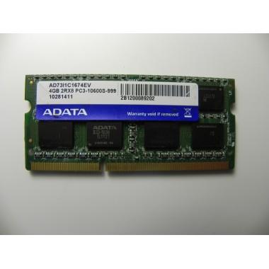 Оперативная память для ноутбука ADATA 4gb 10600 pc3