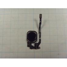 Кнопка HOME для Iphone 5S/SE с толкателем и шлейфом 821-2092-A+прокладка чёрный