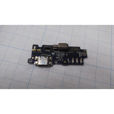 Нижняя плата Meizu M2 Mini  разъем зарядки/микрофон/вибро