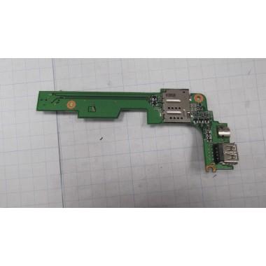 USB+разъем SIM для ноутбука DELL PP29L