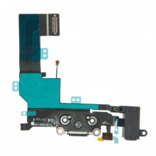 Шлейф  821-00331-A с разъемами зарядного устройства и аудио Apple iPhone SE черный