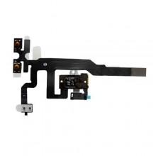 Шлейф для Apple iPhone 4S 821-1336-05,  с Чёрным разъёмом гарнитуры black и кнопкой Mute