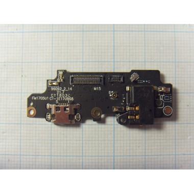 Нижняя плата с разъёмом зарядки, микрофоном и разъёмом гарнитуры Meizu M5 Note
