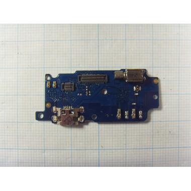 Нижняя плата с разъёмом зарядки, микрофоном и вибромотором Meizu M5S