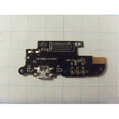 Нижняя плата с разъёмом зарядки и микрофоном Meizu M6