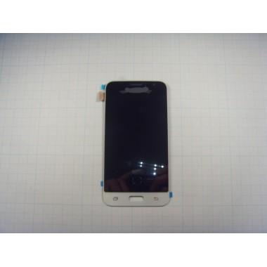 Дисплей Samsung  J120F модуль белый (не регулируется подсветка)