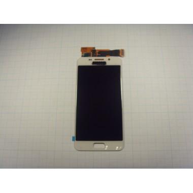Дисплей Samsung A310F (A3 2016) белый (не регулируется подсветка)